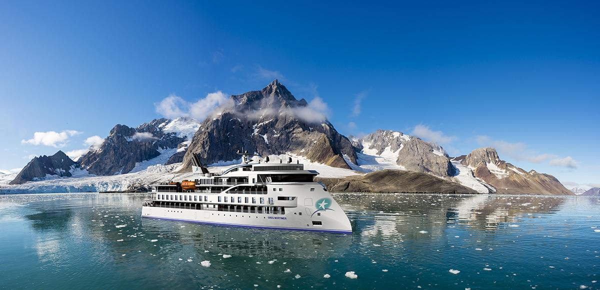Greg Mortimer, the ship servicing Across the Antarctic Circle (Greg Mortimer)