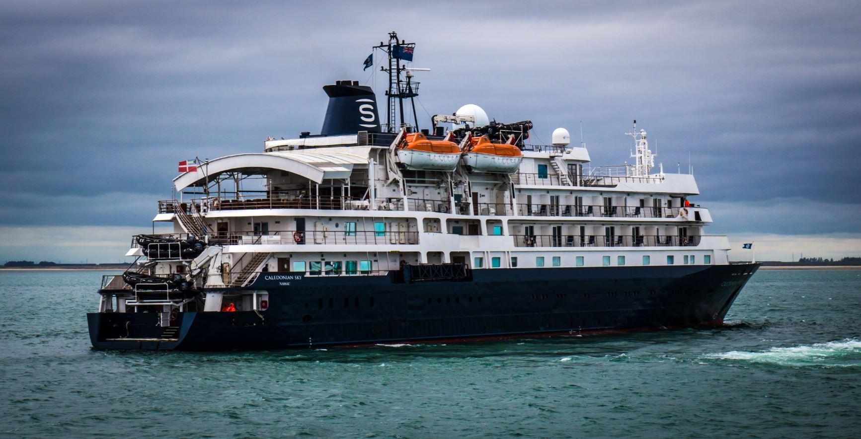 Caledonian Sky, the ship servicing Sub-Antarctic Islands of New Zealand
