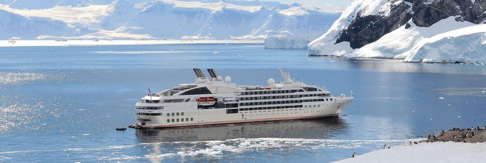 Le Lyrial, the ship servicing Emblematic Antarctica (Le Lyrial)