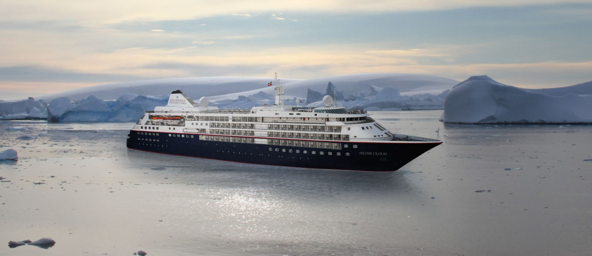 Silver Cloud, the ship servicing 11 Days Antarctica Expedition Cruise