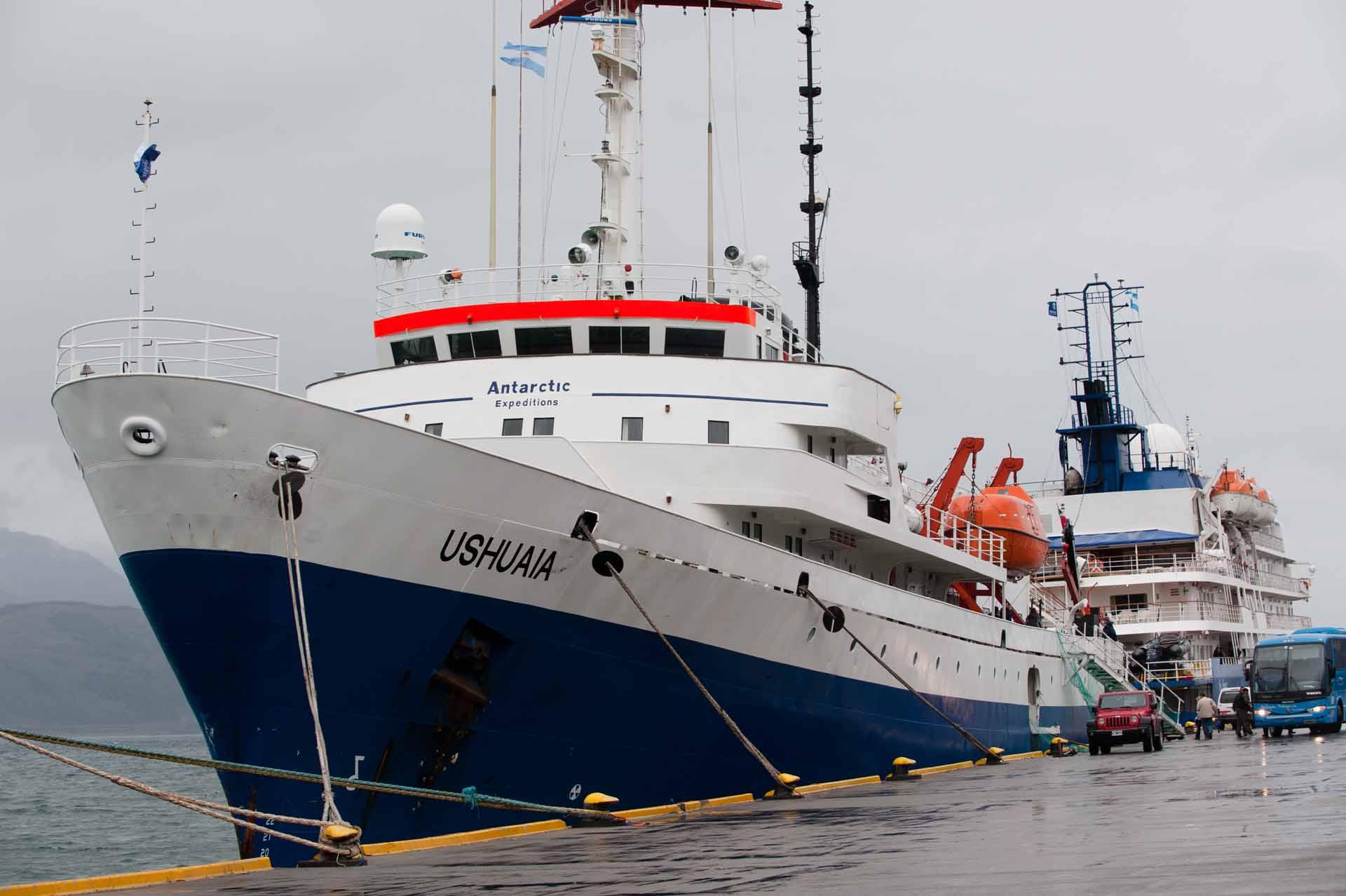 Ushuaia, the ship servicing Classic South Georgia & Antarctica