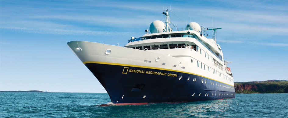 National Geographic Orion , the ship servicing The White Continent Adventure (NG Orion)