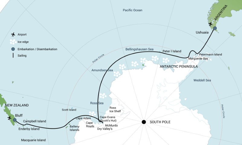 Map for Ross Sea with Helicopters - February 2020/2021