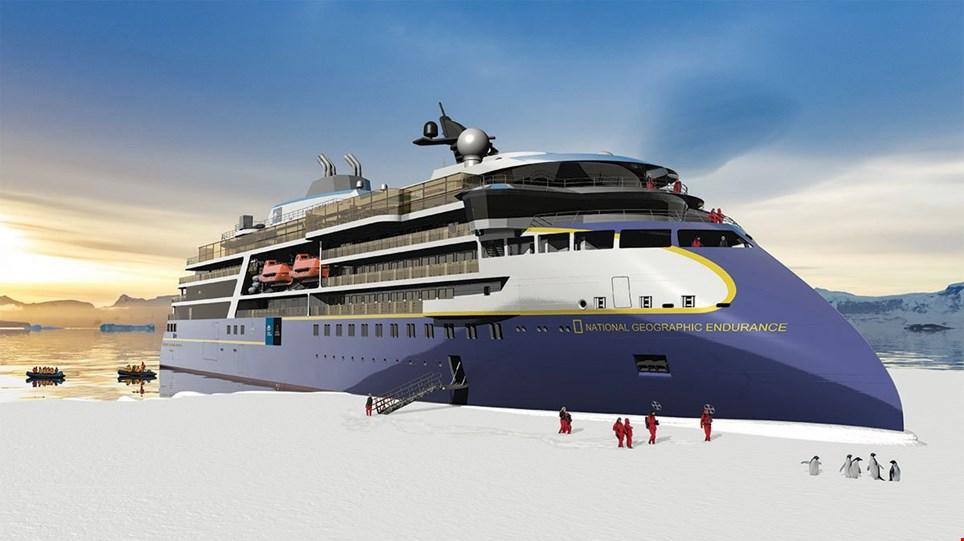 National Geographic Endurance, the ship servicing Epic Antarctica (NG Endurance)