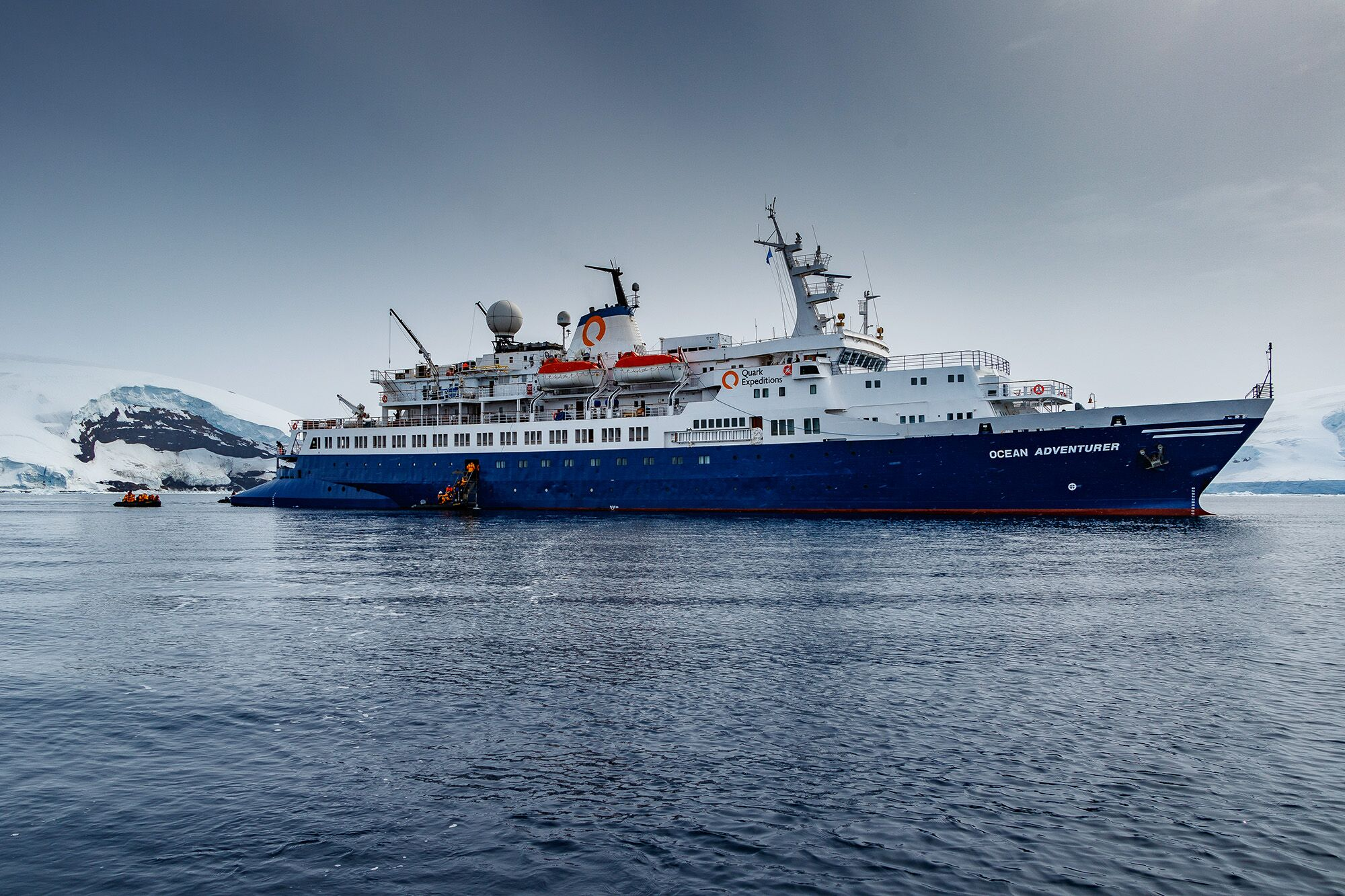 Ocean Adventurer, the ship servicing Circumnavigation of South Georgia with the Falkland Islands