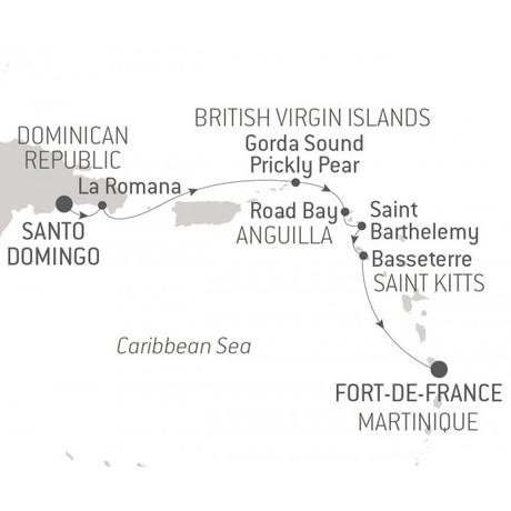 Map for Golf & Pro-Am in the Caribbean