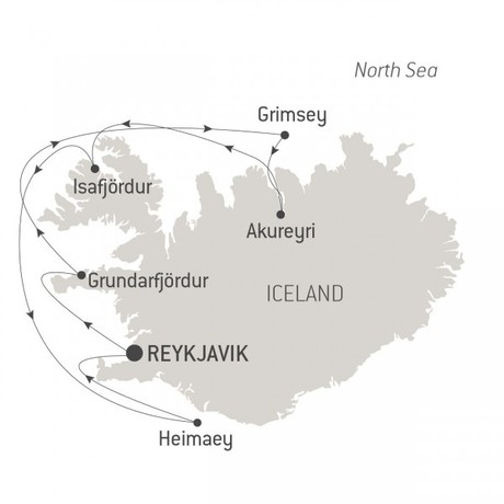 Map for Icelandic Mosaic (Le Champlain)