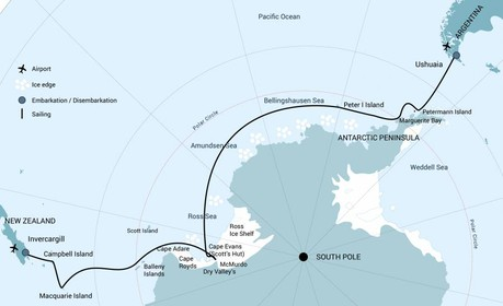 Map for Ross Sea Incl. Helicopters 2021
