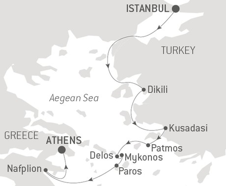 Map for An Exploration of World Affairs: Sailing the Aegean Sea