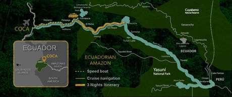 Map for Exploring The Amazon - 4 Days