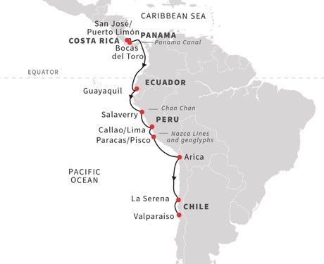 Map for Andean Coast - Expedition from Jungle to Desert