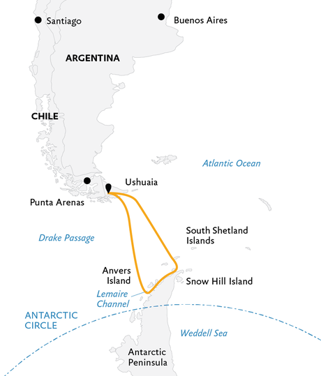 Map for Antarctic Explorer (Ocean Diamond)