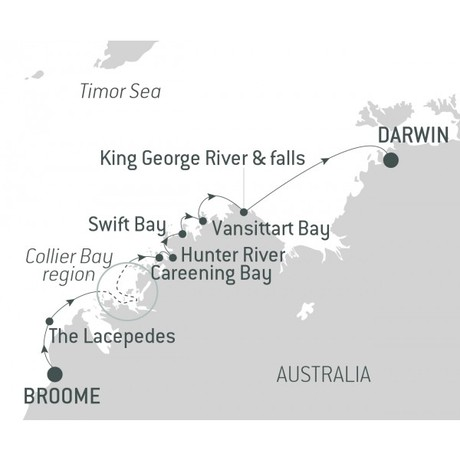 Map for Australia's Iconic Kimberley (Le Bellot)