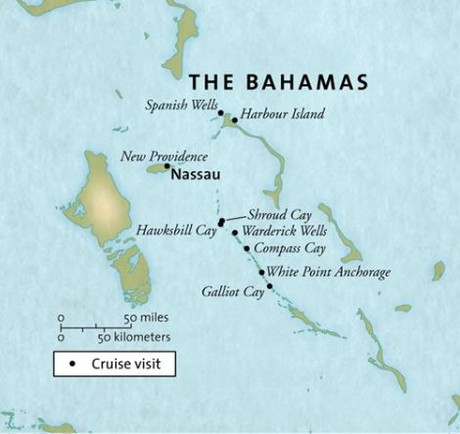 Map for The Bahamas (Grande Mariner)