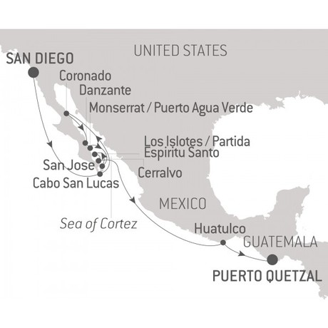 Map for Baja Peninsula & the Sea of Cortez - with Nat Geo