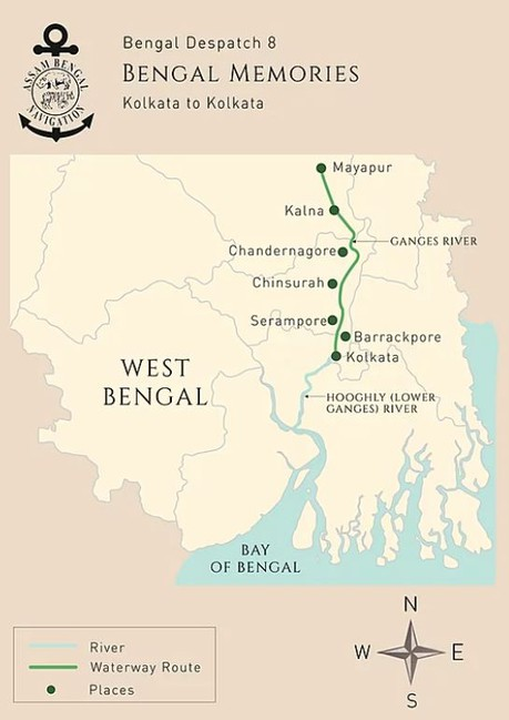 Map for Bengal Memories (ABN Sukapha)