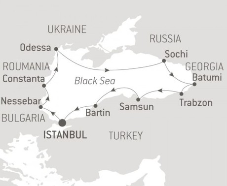 Map for Black Sea Odyssey (Le Bougainville)