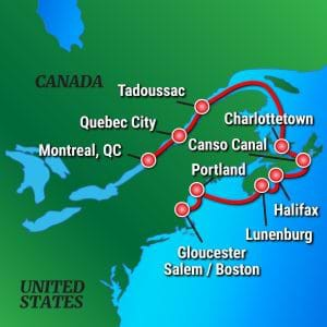 Map for Canadian Maritimes (Victory I & II)