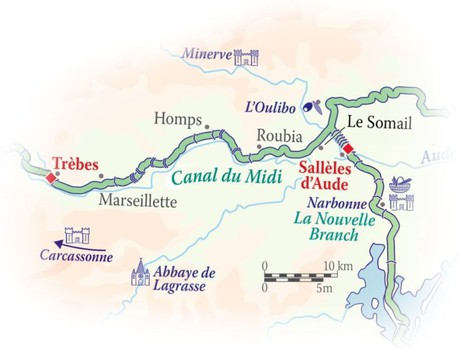 Map for Canal du Midi Cruise (Enchante)