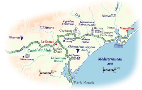 Map for Canal du Midi Cruise (Anjodi)