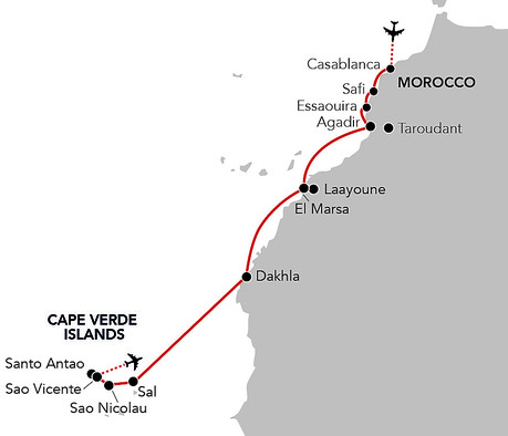 Map for Passage to Cape Verde