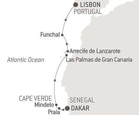 Map for Cape Verde and Canary Islands