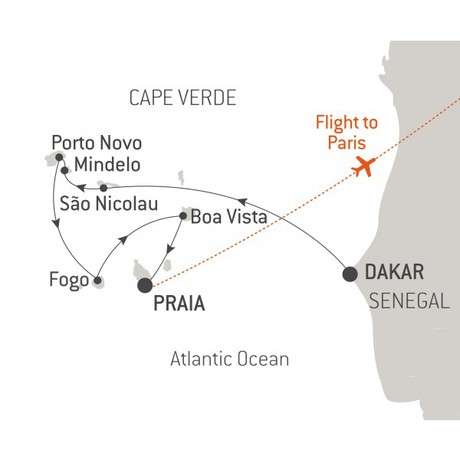 Map for Cape Verde - with Nat Geo (Le Dumont-d'Urville)