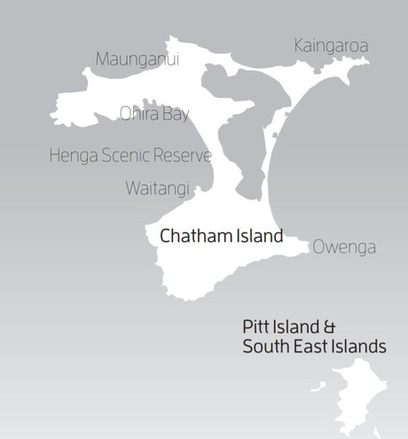 Map for Chatham Islands: The Wild Side from Wellington