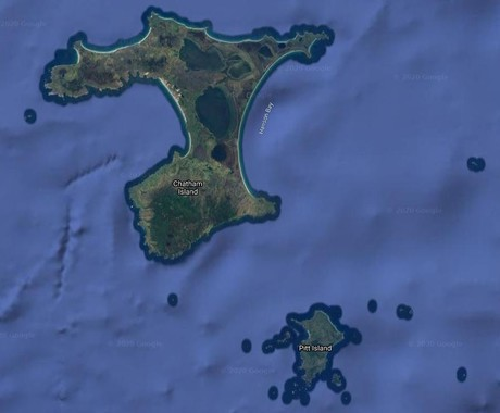 Map for Chatham Islands: People and Plants