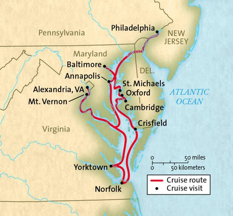 Map for Historic Chesapeake Bay (Grande Marine)