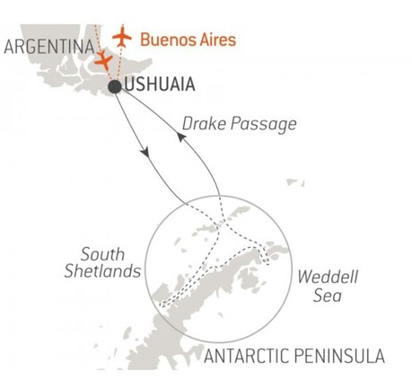 Map for Christmas in Antarctica (L'Austral)