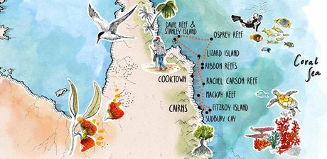 Map for Citizen Science On The Great Barrier Reef