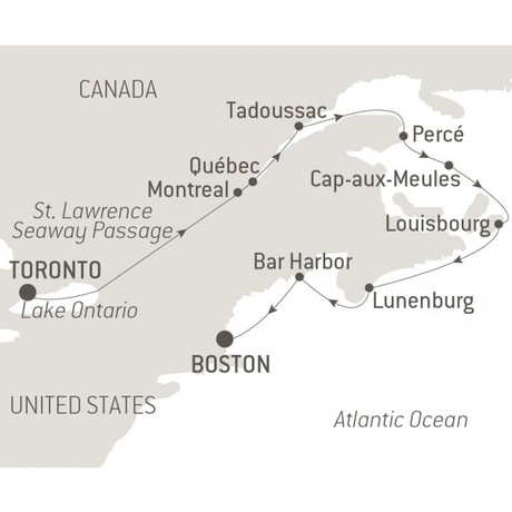 Map for Discover the St. Lawrence River (Le Champlain)