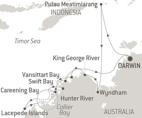 Map for The Essential Kimberley - with National Geographic & Ponant