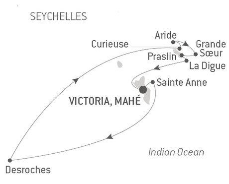 Map for The Essential Seychelles with Ponant