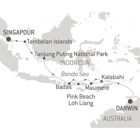 Map for Exploring the Indonesian Archipelago (Le Bellot)