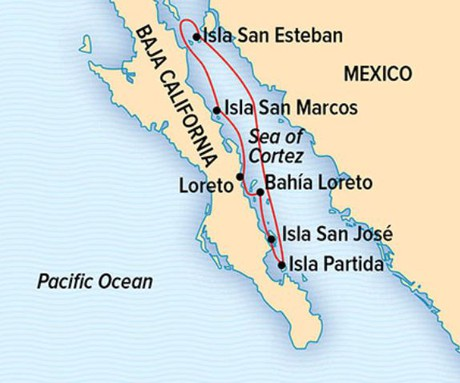 Map for Exploring the Sea of Cortez: A Living Sea & Desert Isles (NG Venture)
