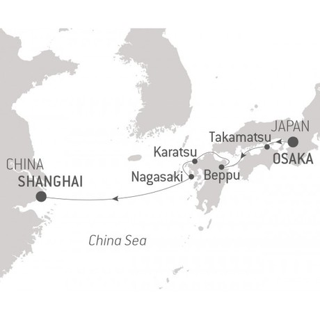 Map for From Japan to China (Le Laperouse)
