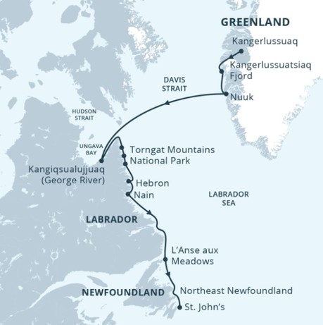 Map for Greenland & Wild Labrador