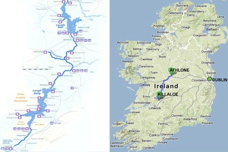 Map for River Shannon Classic Cruise