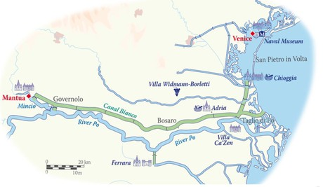 Map for Italy Cruise (La Bella Vita)