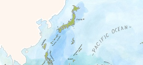 Map for Through Japan's Ryukyu Islands (Coral Adventurer)