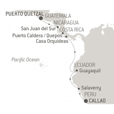 Map for Jewels of Latin America (L'Austral)