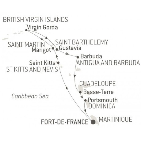 Map for Jewels of the Caribbean