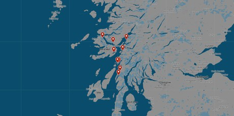 Map for Hebrides: The Sounds of Mull, Luing, Shuna & Jura (St Hilda)