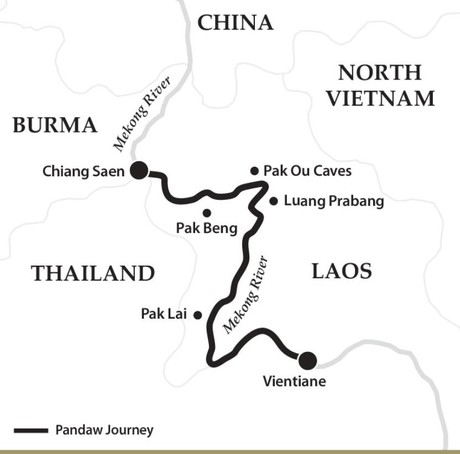 Map for The Laos Mekong (Downstream)