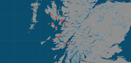 Map for Mini Cruise Around Scotland: Isle of Skye and the Small Isles
