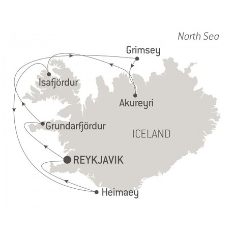 Map for Icelandic Mosaic (Le Bellot)