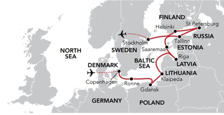 Map for Baltic Odyssey (Serenissima)
