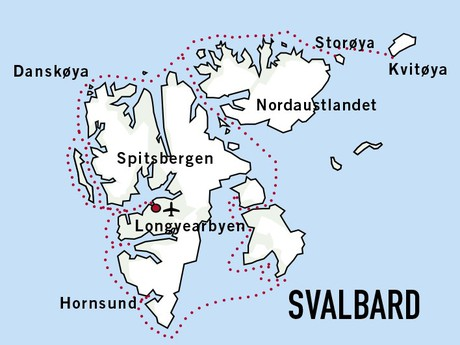 Map for Expedition Svalbard (Sjoveien)